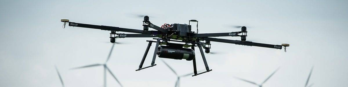 Lidar carried on UAV drone for mining surveys
